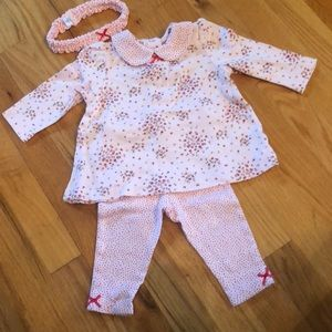New without tags Little Me 3 piece set